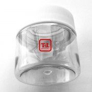 Прозрачная баночка 20 мл. крышка белая / чёрная  - от 1000 штук