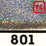 Блеск 801 СЕРЕБРО ГОЛОГРАФИК металлик 0.4 мм.