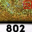 Блеск 802 ЗОЛОТО ГОЛОГРАФИК металлик 0.6 мм.