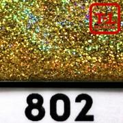 Блеск 802 ЗОЛОТО ГОЛОГРАФИК металлик - 0.1 мм (мелкие)