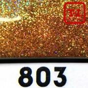 Блеск 803 ЗОЛОТО ТЁМНОЕ ГОЛОГРАФИК металлик - 0.1 мм (мелкие)