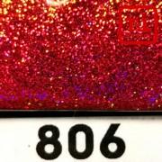 Блеск 806 КРАСНЫЙ ГОЛОГРАФИК металлик 0.2 мм. (мелкие)
