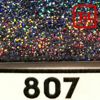 Блеск 807 ПОЛУНОЧНЫЙ ЧЁРНЫЙ ГОЛОГРАФИК металлик 0.4 мм.
