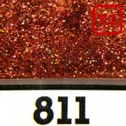 Блеск 811 КРАСНО-КОРИЧНЕВЫЙ ГОЛОГРАФИК металлик - 0.1 мм (мелкие)