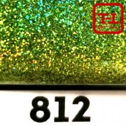 Блеск 812 САЛАТОВЫЙ ГОЛОГРАФИК металлик - 0.1 мм (мелкие)