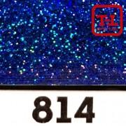 Блеск 814 СИНИЙ НАСЫЩЕННЫЙ ГОЛОГРАФИК металлик - 0.1 мм (мелкие)