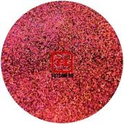 Красный голографик металлик 0.2 мм. (мелкие+) от 3 грамм