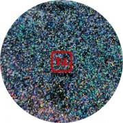 Чёрный полуночный голографик металлик 0.2 мм. (мелкие+) от 3 грамм