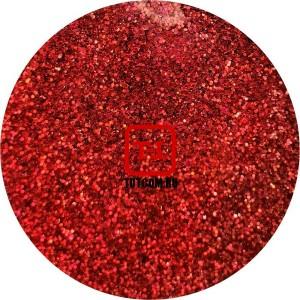 Красный насыщенный голографик металлик 0.1 мм. (мелкие) от 3 грамм