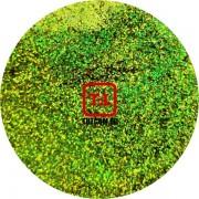 Салатовый голографик металлик 0.2 мм. (мелкие ) от 3 грамм