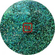 Сине-зелёный голографик металлик 0.2 мм. (мелкие ) от 3 грамм