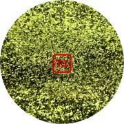 Салатовый стальной цветной металлик 0.1 мм. (мелкие) от 3 грамм