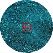 Глубокий голубой цветной металлик 0.2 мм. (мелкие+) от 3 грамм