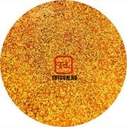 Золото медное неоновое голографик металлик 0.2 мм. (мелкие) от 3 грамм