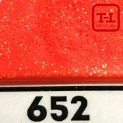 БЛЕСК 652 - КРАСНО-ОРАНЖЕВЫЙ ГЛЯНЦЕВЫЙ неон 500 грамм размеры 0.1/0.2/0.4/0.6/1.0/4.0 мм