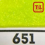 БЛЕСК 651 - ЛАЙМ ГЛЯНЦЕВЫЙ неон 500 грамм размеры 0.1/0.2/0.4/0.6/1.0/4.0 мм