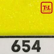 Блеск 654 ЖЁЛТЫЙ ЛИМОН - 0.1 мм (мелкие)