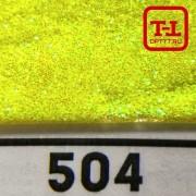 Блеск 504 ЖЁЛТЫЙ НЕОН ПЕРЛАМУТР - 0.1 мм (мелкие)