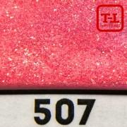 БЛЕСК 507 - АЛЫЙ ЗОЛОТОЙ перламутровый неон 500 грамм размеры 0.1/0.2/0.4/0.6/1.0/4.0 мм