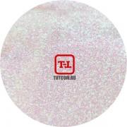 Белые перламутровые блёстки - зелёный с красным оттенком 500 грамм от 0.1 до 4.0 мм. в ассортименте.