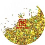 "Блеск Соломка - Золото голографик металлик"" 0.4х20 мм. от 3 грамм"