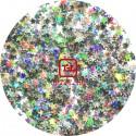 "Звёзды ""Серебро голографик"" 0.3 мм. от 3 грамм (Пакистан)"