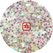 "Звёзды ""Белый перламутр"" 0.3 мм. от 3 грамм (Пакистан)"