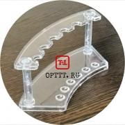 Подставка прозрачная для кистей 18х7х6см.