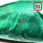 Перламутр 794 БЛЕСК МЕРЦАЮЩИЙ ЗЕЛЁНЫЙ СТАЛЬНОЙ размер частиц 20-100 короб 20 килограмм