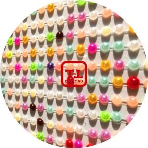 Стразы Самоклеющиеся Цветной Жемчуг акрил размер 0.3 мм набор