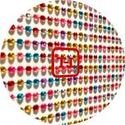 Стразы Самоклеющиеся цветные акрил размер 0.2 мм набор
