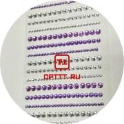 Стразы Самоклеющиеся Фиолетовый / Серебро акрил размер 0.2/ 03/ 04 мм набор