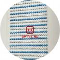 Стразы Самоклеющиеся Голубой / Серебро акрил размер 0.3 мм набор