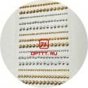 Стразы Самоклеющиеся Золото / Серебро акрил размер 0.2/ 03/ 04 мм набор