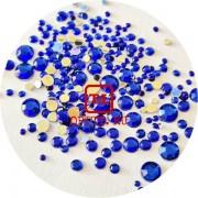 Стразы Синие акрил размер микс набор 1,5/2/2,5/3/4/5мм