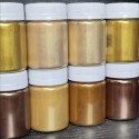 GOLD - BRONZE 7 - НАБОР ЗОЛОТЫХ и БРОНЗОВЫХ ПЕРЛАМУТРОВЫХ ПИГМЕНТОВ (7 штук по 10/20/25/50/100 грамм)