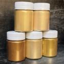 GOLD 5 - НАБОР ЗОЛОТЫХ ПЕРЛАМУТРОВЫХ ПИГМЕНТОВ (5 штук по 10/20/25/50/100 грамм)