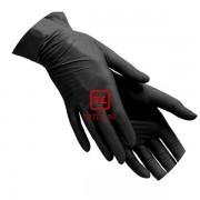 Перчатки чёрные нитриловые неопудренные размер М