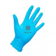 Перчатки голубые удлинённые нитриловые неопудренные размер М
