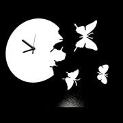 """Дизайн настенные часы серия """"Бабочки"""" 30 см."""