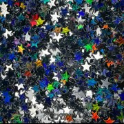Звёзды Чёрный голографик