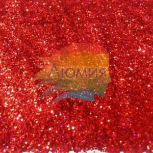 Красный насыщенный голографик металл. 0.1 мм. (пыль) от 3 грамм