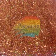 Красно-коричневый голографик металл. 0.1 мм. (пыль) от 3 грамм