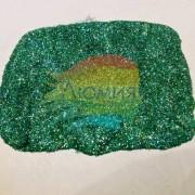 Сине-зелёный голографик металл. 0.1 мм. (пыль) от 3 грамм