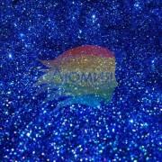 Синий насыщенный голографик металл. 0.1 мм. (пыль) от 3 грамм