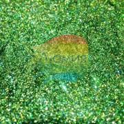 Зелёный голографик металл. 0.1 мм. (пыль) от 3 грамм