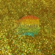 Тёплое Золото голографик металл. 0.1 мм. (пыль) от 3 грамм