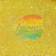 Жёлтые перламутровые блёстки 500 грамм от 0.1 до 4.0 мм. в ассортименте.