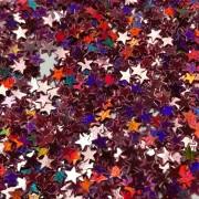 Звёзды Красный голографик