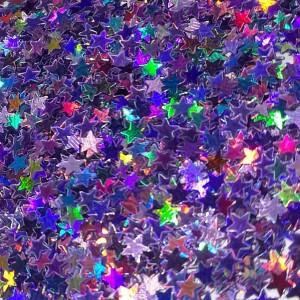 Звёзды Лилово-лавандовый голографик